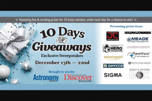 Kalmbach Media – 2019 Science 10 Days Of Giveaways – Win (1) ETX90 Observer from Meade Instruments