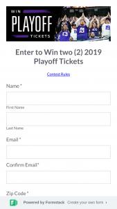 Minnesota Vikings – Playoff Ticket Sweepstakes