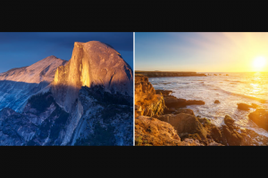 National Park Trips – Win A Yosemite Vacation – Win (Prizes have no cash value) Must be taken in calendar year 2020.