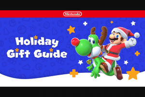 Nintendo – Holiday Sweepstakes