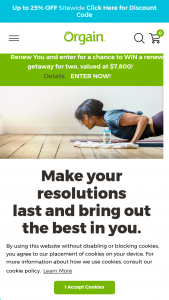 Orgain – New Year Renew You – Win a trip package for two people winner and one guest to Lenox Massachusetts