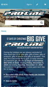 Pro-Line – 12 Days Of Christmas Big Give Of 2019 – Win a Pro-Line Custom Built Drag Racing Slash kit