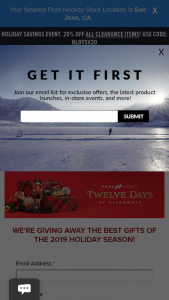 Pure Hockey – 12 Days Of Giveaways Contest Sweepstakes