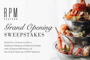 Rpm Seafood – Grand Opening Sweepstakes