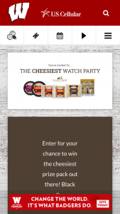 Saputo Cheese – Cheesiest Watch Party – Win one autographed Coach Paul Chryst football