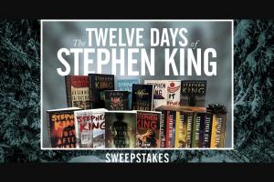 Stephenkingcom – The 12 Days Of Stephen King Sweepstakes