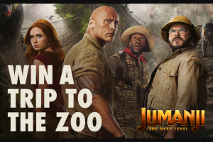 Studio Movie Grill – Jumanji The Next Level – Win one trip for the Winner and up to three guests of Winner to San Diego