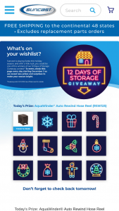 Suncast – 12 Days Of Storage Giveaway Sweepstakes