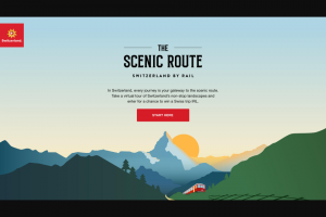 Switzerland Tourism – The Scenic Route Digital Campaign – Win and ground transportation in Switzerland for two persons