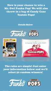 Tootsie Roll – Funko Sweepstakes