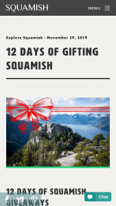 Tourism Squamish – 12 Days Of Squamish Giveaway Sweepstakes