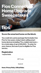 Verizon – Fios Connected Home Upgrade Sweepstakes