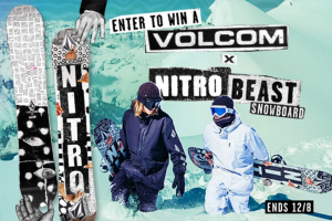 Volcom – Snow – Win a Grand Prize which consists of the following One NITRO x VOLCOM Snowboard and One $400 Promo Code for use on Volcomcom