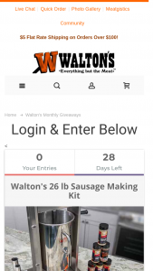 Walton's – December Giveaway Sweepstakes