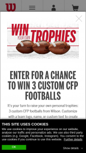 Wilson – College Football Playoff Game Ball Giveaway – Win Pack consists of three custom College Football Playoff Game Balls