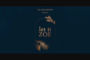 ZOE Report – Let It ZOE – Win in the amount of $1500 to be redeemed at wwwverishopcom