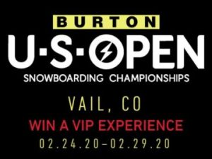 Burton US Open – Win the ultimate weekend of world-class snowboarding, concerts and more for 2