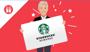 Ellen Tube – Win a $500 Starbucks Gift Card