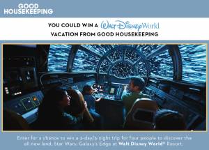 Hearst Magazine – Win a 3-day  trip for 4 to the Walt Disney World Resort in Florida