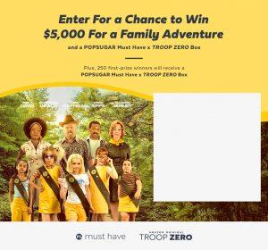 PopSugar – Win a grand prize of $5,000 PLUS a Popsugar Must Have Troop Zero Box OR 1 of 250 minor prizes