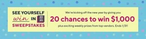 QVC – See Yourself Win in 2020 – Win 1 of 20 cash prizes valued at $1,000 each OR 1 of 9 minor prizes
