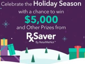 RXSaver – Win a $5,000 check OR 1 of 300 instant win prizes