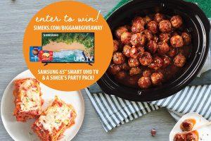 Simek – Win a Samsung 65″ UHD TV PLUS a Party Pack