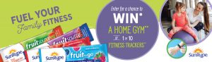 Sun-Rype Products – Win a home gym OR 1 of 10 FitBits