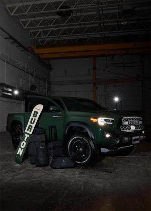 The Burton Corporation – Win a 2020 Toyota Tacoma Double Cab truck + a Burton Luggage Set + a Burton Custom Snowboard