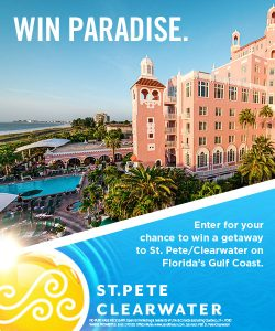 Visit St. Pete Clearwater – Win a 5-day prize package for 2 in St. Petersburg/Clearwater, FL