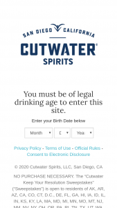 Anheuser-Busch Cutwater – Keep Your Resolutions – Win one six-month gym membership