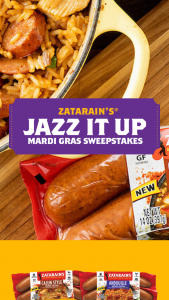 Bar-S Zatarain's – Jazz It Up – Win $10000.00 USD AWARDED IN THE FORM OF A CHECK TO BE USED TOWARD TRAVEL AT THE WINNER'S SOLE DISCRETION
