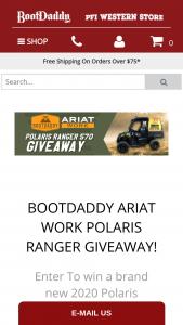 Bootdaddy – Ariat Work Polaris Ranger Giveaway Sweepstakes
