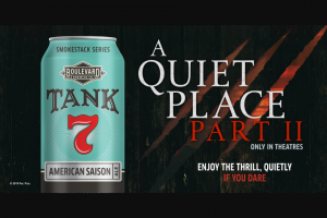 Boulevard Brewing Co- A Quiet Place Ii – Win a trip for two to Hollywood