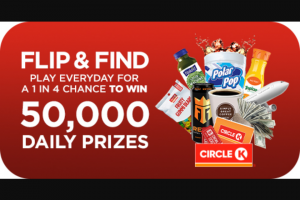 Circle K Stores – Flip & Find Sweepstakes