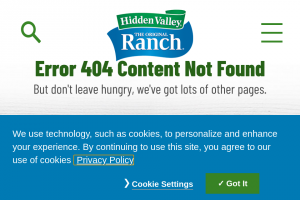 Clorox Hidden Valley – $1k Ranch For The Win Sweepstakes