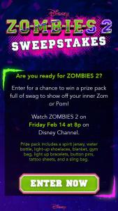 Disney – Zombies 2 Sweepstakes