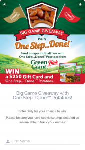 Farm Star Living – Big Game Giveaway Sweepstakes