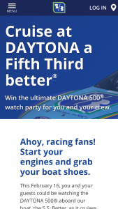 Fifth Third Bank – Ss Better Daytona 500 Experience – Win a prize package for the 2020 Daytona 500® on February 16 2020 in Daytona Beach