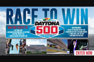 "Gannett Media – Daytona 500 Race To Win – Win in this Sweepstakes to the first name chosen in the random Drawings (the ""Grand Prize Winner"")."
