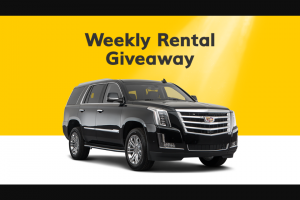 "Hertz – Weekly Rental Giveaway – Win Entry Period of the use of a Hertz loaned vehicle for seven (7) days (the ""Grand Prize"")."