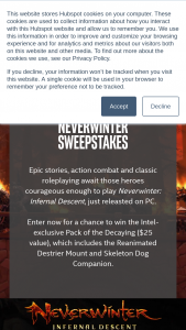 Intel Gaming – Neverwinter Sweepstakes Sweepstakes