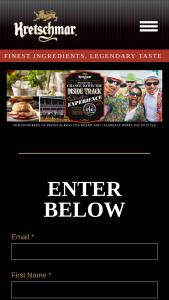 Kretschmar – Trip To The Kentucky Derby – Win $1000 in spending money • Winner to receive $1750 contribution to any tax that may be due on the prize ARV of this prize package $6750.