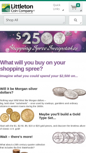 Littleton Coin – January Shopping Spree – Win Company shopping spree valued at $2500.
