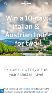 Lonely Planet – 2020 Travel Resolutions Competition – Win (1) 'Venice to Vienna' tour for two adults