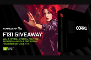 Maingear – F131 Giveaway – Win Control themed MAINGEAR F131 (approximate retail value $4000.00 USD).