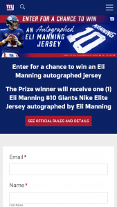 New York Football Giants – Eli Manning Jersey – Win one Eli Manning #10 Giants Nike Elite Jersey autographed by Eli Manning