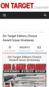 On Target – Editors Choice Award Issue Giveaway – Win Package Worth Over $2919