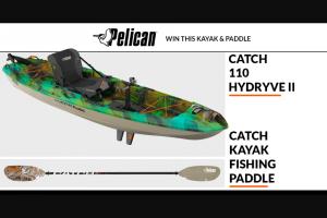 Paddlingcom – Pelican – Win the Catch 110HD kayak and the Catch Fishing Kayak Paddle.
