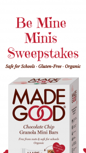 Riverside Natural Foods – $5000 Madegood Be Mine Minis – Win one (1) $500 Target® GiftCard™.